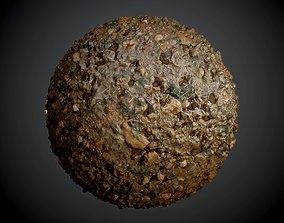 3D Muddy Swamp Wet Leaves Ground Seamless PBR Texture