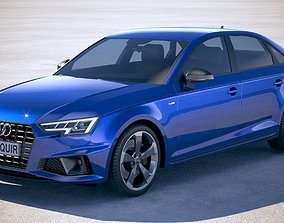 3D model Audi A4 S-Line Sedan 2019