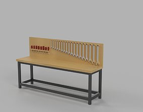 Workstation - Car Garage scale 1-43 - Diorama Garage - 3d