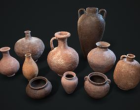 3D model VR / AR ready Ancient clay pots