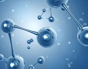 molecules 3D asset