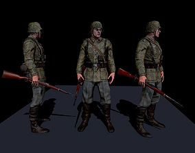 3D asset SS soldier