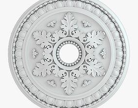 Rosette 2 3D model plaster