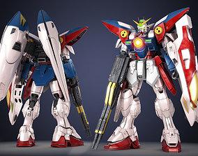 Gundam Zero Wing XXXG-00W0 3D asset realtime