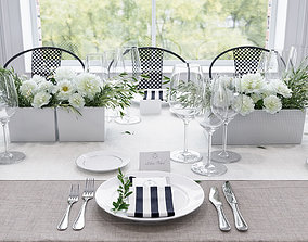 Banquet Table Setting 3D