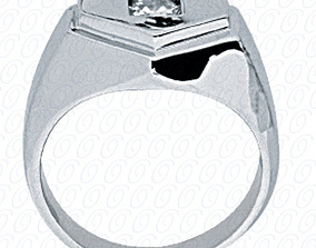 Woman Solitaire Diomand RIng 3D print model