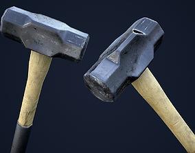 3D asset Sledge Hammer 1 Plus 1 PBR Game Ready