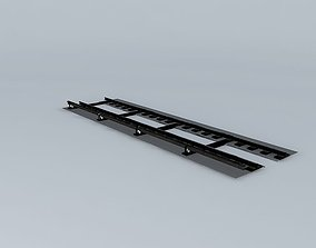 3D model Subway Tracks Detailed
