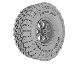 3D printable model Full Tire Set - Toyo Open Country 2