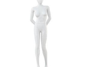 Female White Mannequin 44 3D model