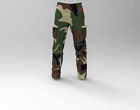 Military Pants Forest Camouflage 3D model