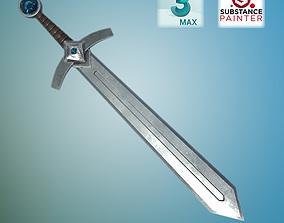 VR / AR ready Medieval Sword Low Poly PBR model unity