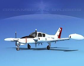 3D Cessna U-3B Blue Canoe V11
