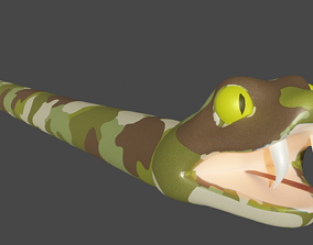 Amazon Snake 3D asset