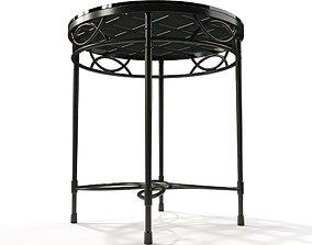JANUS ET CIE AMALFI WOVEN GLASS TOP SIDE TABLE 3D model