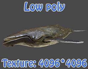 realtime Low poly Whale 3D Modle