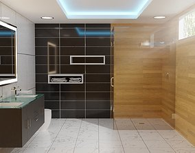 3D contemporary modern bathroom