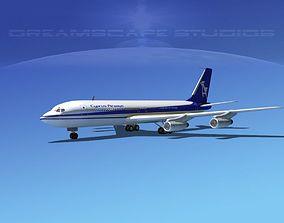 3D model Boeing 707 Cyprus Airways