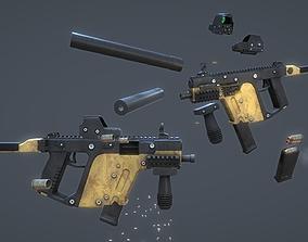 Modular Submachine Gun Kriss Vector 3D model