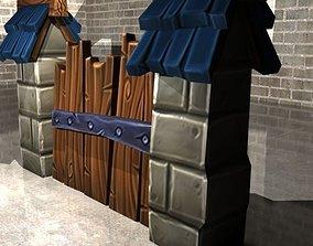 3D asset Medieval Wall