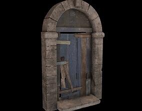 Old Wooden Door 3D model realtime