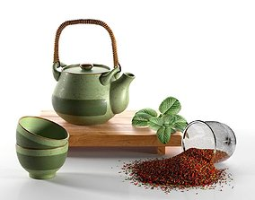 3D model Rustic Tea Set
