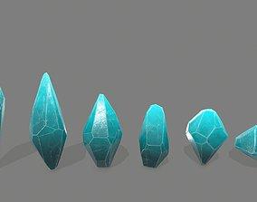 glass crystal set 3D asset realtime