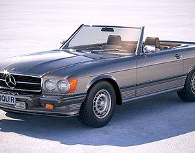 3D model Mercedes SL USA r107 1981
