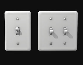 3D model Single - Dual Light Switch - PBR Game Ready