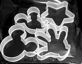 Set of cookie cutters Mickey Mouse 3D print model