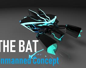 remodeling THE BAT 3D Model Unmanned Concept