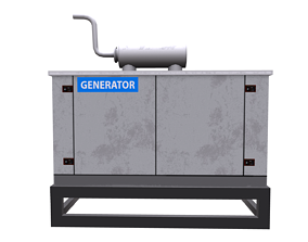 Generator 3D asset
