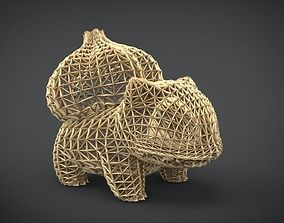 Bulbasaur Wireframe 3D print model