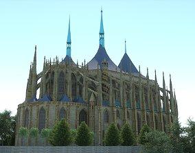 3D model Saint Barbaras church -Kutna Hora- Czech republic