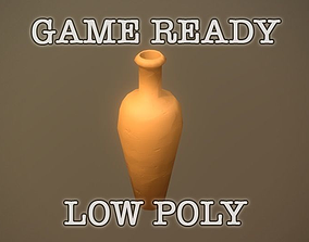 Big Clay Vase low-poly game ready 3D asset