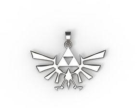 0555 The Legend of Zelda Pendant 3D printable model