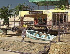 3D model balneario isla