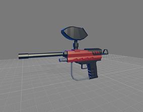 3D asset Paintball pistol