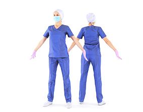 Female nurse 21 3D asset