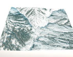3D model Winter Landscape in Central Alaska