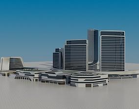 Futuristic Skyscrapers 5 3D model