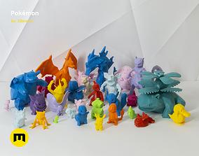 3D printable model 30 Lowpoly Pokemon gyarados