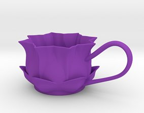 Flower Tealight Holder 3D print model