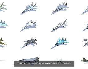 USSR and Russia Jet Fighter Aircrafts Bundle 3D