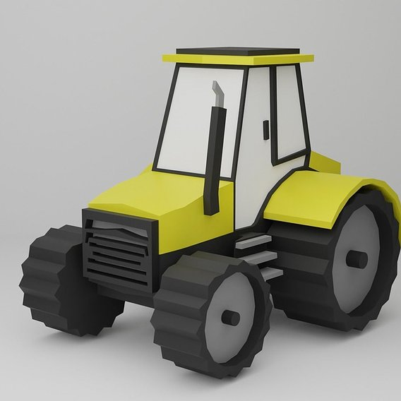 Tractor Cartoon style