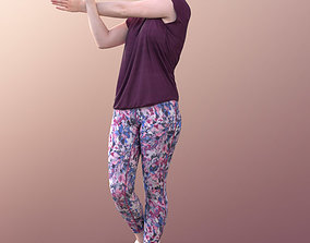 3D model 10522 Svenja - Young Sporty Woman Stretching
