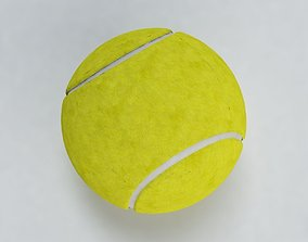 Yellow Tennis Ball 3D model