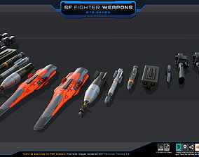 3D model SF Fighters Weapons