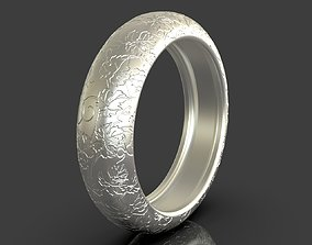 Ring With Nature Details 3D printable model
