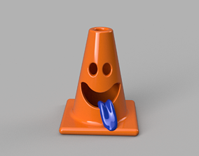 Smiling traffic cone 3D printable model